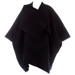 Comme des Garcons black wool felt coat, ca. 1983
