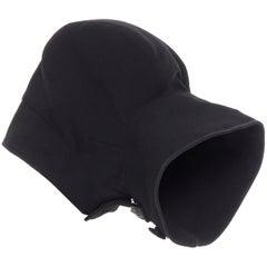 COMME DES GARCONS black zip toggle button upside down brim snood hat