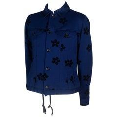 Comme des Garçons Blue Jacket with Velvet Flowers, 2003