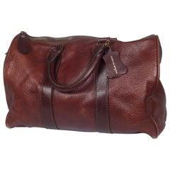 Comme des Garçons Brown Leather Boston Bag