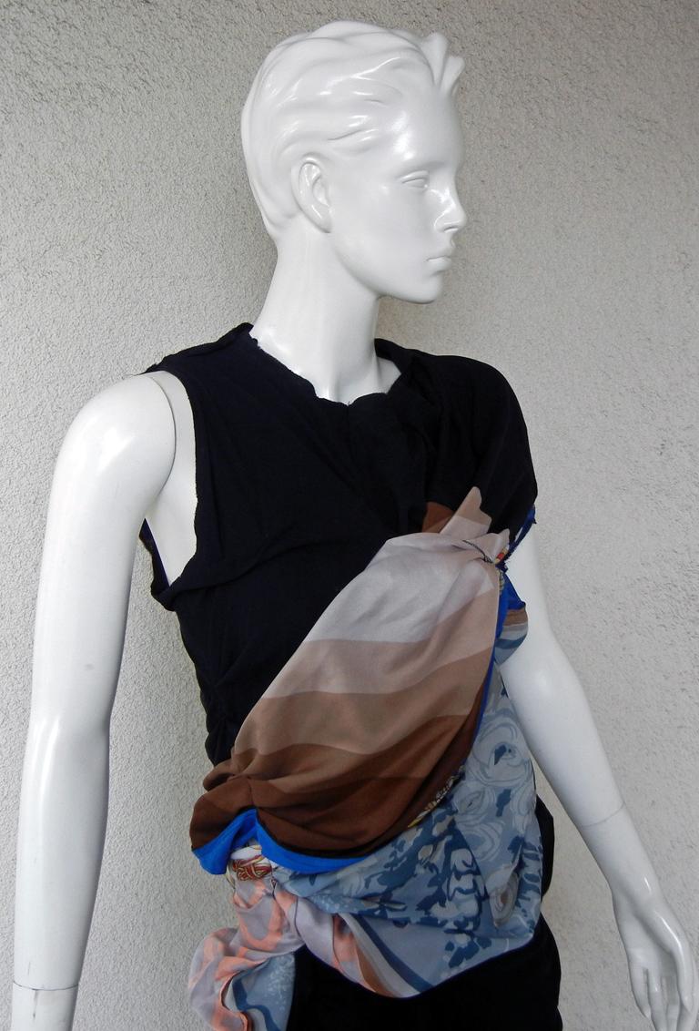 Comme des Garcons Coveted 2011 Hybrid Vintage Scarf Dress For Sale 1