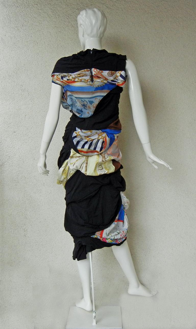 Comme des Garcons Coveted 2011 Hybrid Vintage Scarf Dress For Sale 3