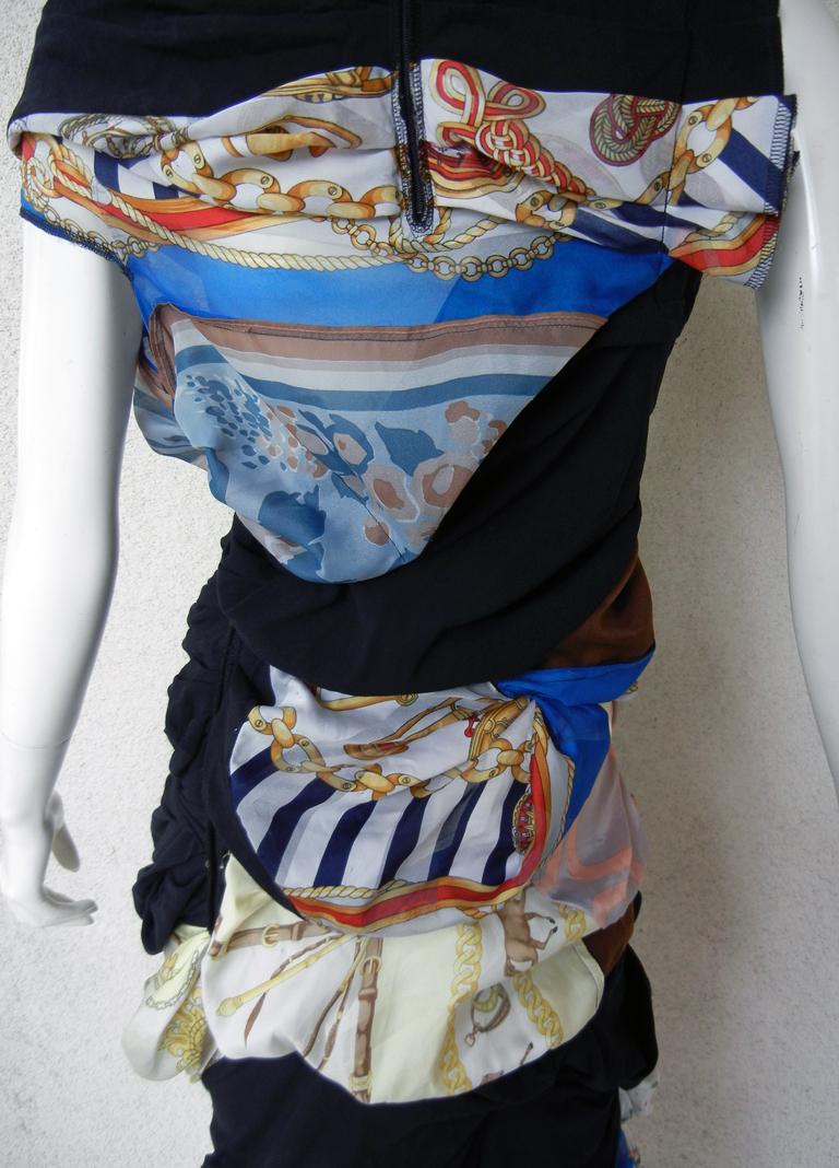 Comme des Garcons Coveted 2011 Hybrid Vintage Scarf Dress For Sale 4