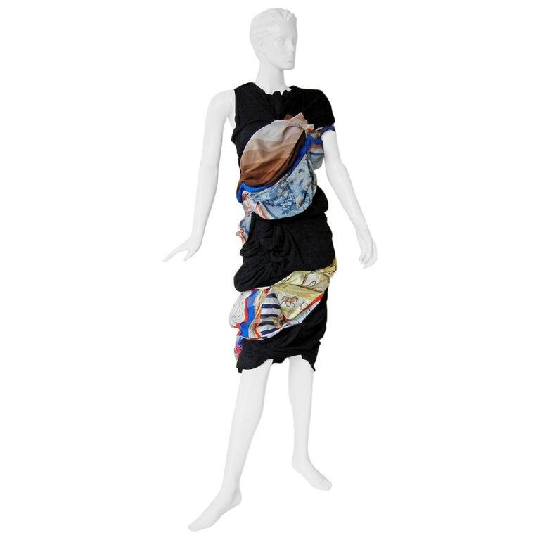 Comme des Garcons Coveted 2011 Hybrid Vintage Scarf Dress For Sale