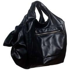 Comme des Garçons Faux Leather Black Purse