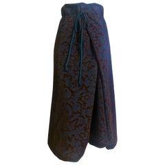 Comme des Garcons Flat Envelope Wool Skirt AD 1996