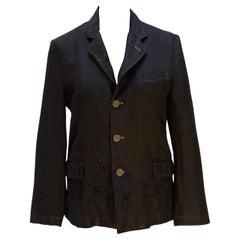 Comme Des Garçons Flowered Linen Jacket
