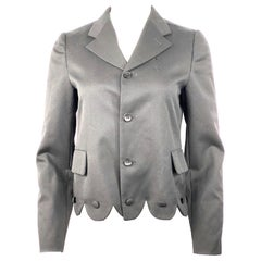Comme des Garcons GIRL Black Wool Blazer Jacker w/ Buttons Size S