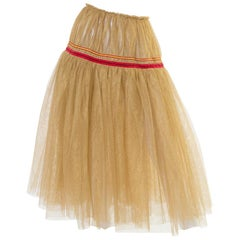 Comme des Garcons Gold Tulle Skirt, 2000s