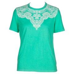 Comme des Garçons Green T-shirt with Lace Motif, 2006