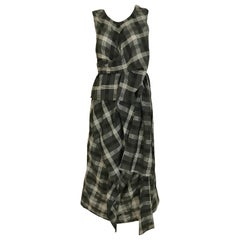 Comme des Garçons Grey and White plaid cotton dress