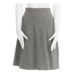 """COMME DES GARCONS grey Prince of Wales check curved seam A-line skirt 26"""""""