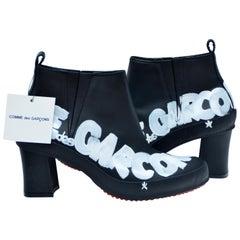 Comme Des Garçons Hand Painted Melissa Shoes Boots NEW SZ  24