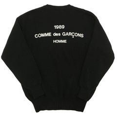 Comme des Garcons Homme 1989 Sweater Staff Heavy Cotton Jumper AD 1988