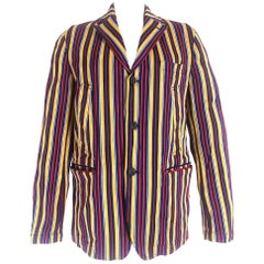 Comme des Garcons Homme AD 2004 Striped Summer Jacket