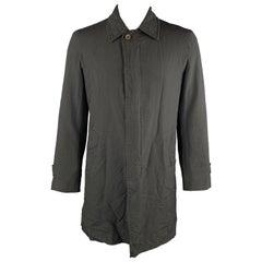 COMME des GARCONS HOMME DEUX Size XL Black Wrinkle Textured Car Coat