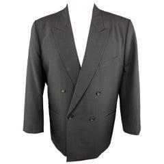 COMME des GARCONS HOMME PLUS 38 Wool Black Sport Coat