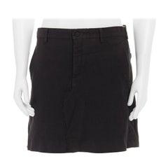 COMME DES GARCONS HOMME PLUS black crinkled linen deconstructed kilt skirt M JP2