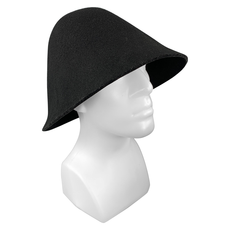 COMME des GARCONS HOMME PLUS Black Wool Structured Hat