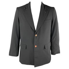 COMME des GARCONS HOMME PLUS Chest Size L Black Polyester Notch Lapel Sport Coat