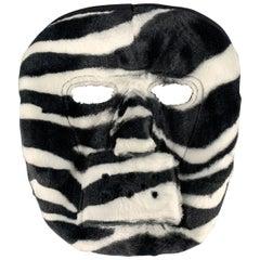 COMME des GARCONS HOMME PLUS F/W 2015 Zebra Black & White Rayon Mask
