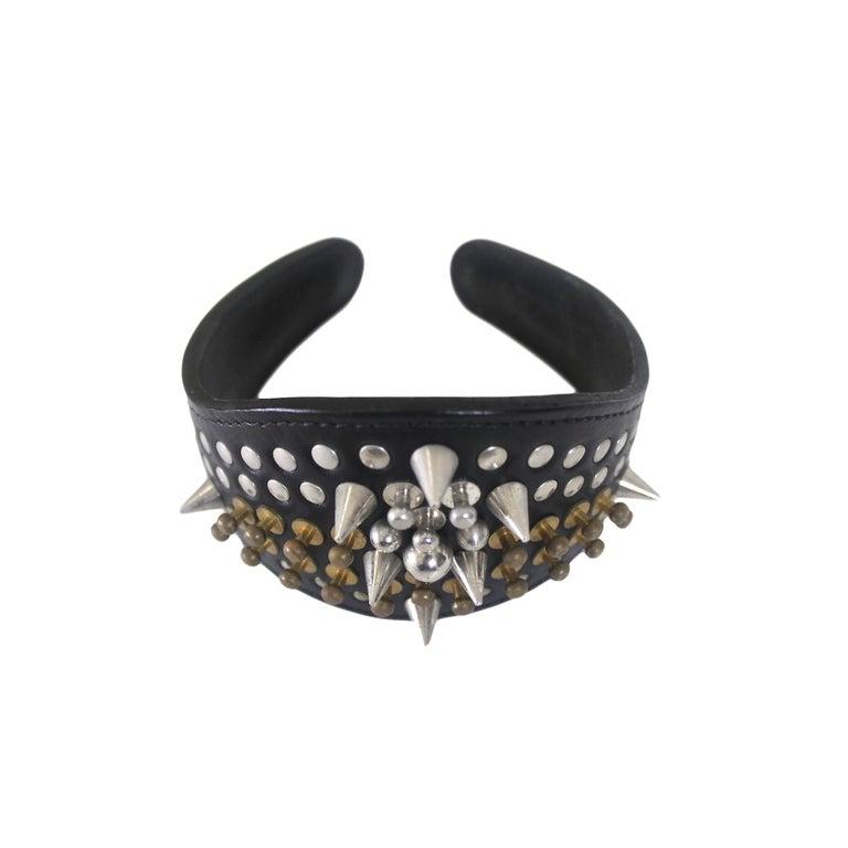 Comme des Garcons Homme Plus Fleet Ilya Leather Studded Headband 2013 For Sale 3