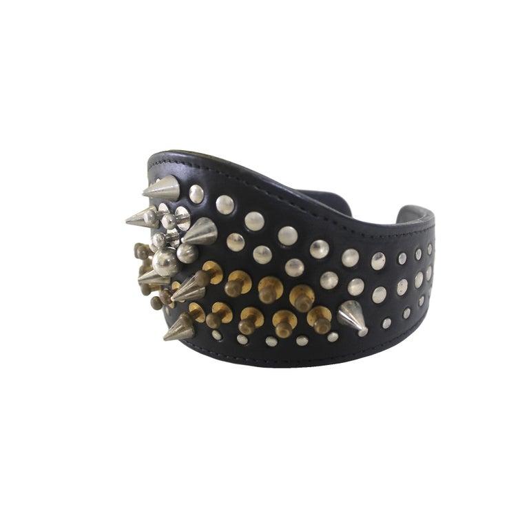 Comme des Garcons Homme Plus Fleet Ilya Leather Studded Headband 2013 For Sale 4