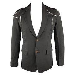 COMME des GARCONS HOMME PLUS M Black Cut Outs Polyester Notch Lapel Jacket