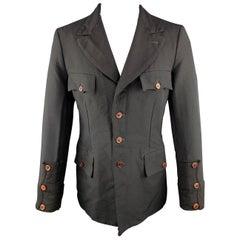 COMME des GARCONS HOMME PLUS M Black Polyester Military Jacket