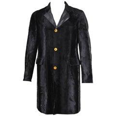 Comme Des Garcons Homme Plus Men's Faux Fur & Vegan Leather Coat, A/W 2002
