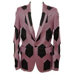 Comme des Garcons Homme Plus Runway Pink Black Men's Cutout Blazer, Spring 2015