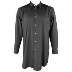 COMME des GARCONS HOMME PLUS Size L Black Cotton Sleeve Shirt