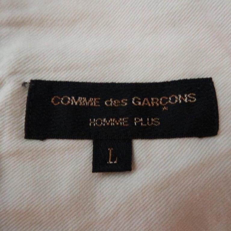 COMME des GARCONS HOMME PLUS Size L Black Solid 30 Drawstring Casual Pants For Sale 2