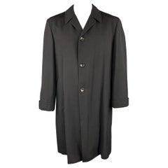 COMME des GARCONS HOMME PLUS Size L Black Wool Buttoned Relax Coat