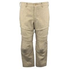 COMME des GARCONS HOMME PLUS Size M Oatmeal Armor Panel Pants