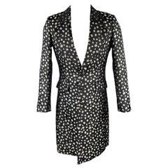 COMME des GARCONS HOMME PLUS Size S Black & Silver Dots Coat / Jacket