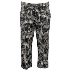 COMME des GARCONS HOMME PLUS Size S Black & White Checkered Polyester Pants