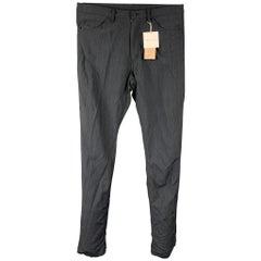 COMME des GARCONS HOMME PLUS Size S Grey Stripe Wool Blend Casual Pants