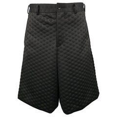 COMME des GARCONS HOMME PLUS Size XS Black Polka Dot Embossed Shorts