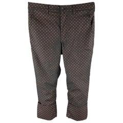 COMME des GARCONS HOMME PLUS Size XS Black & Red Dots Wool Dress Pants