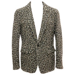 Comme des Garcons Homme Plus Wool Tweed Leopard Print Blazer, Fall 2009