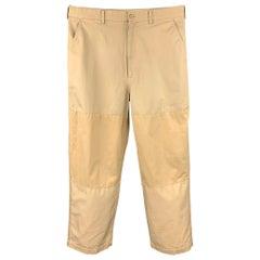 COMME des GARCONS HOMME Size L Khaki Patchwork Cotton Zip Fly Casual Pants
