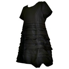 Comme des Garcons Horizontal Pleated Dress with Back Flap 1994