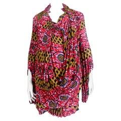 Comme des Garçons Junya Watanabe African Open Back Print Dress AD 2009