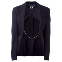 Comme Des Garcons Junya Watanabe Black wool Chain Detail Blazer
