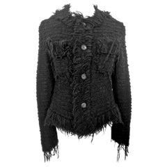 Comme des Garcons Junya Watanabe Cropped Chanel Style Fringed Jacket AD 2003