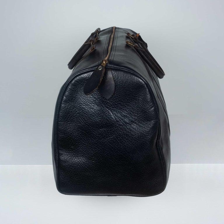 Women's or Men's Comme des Garçons Large Black Leather Boston Bag