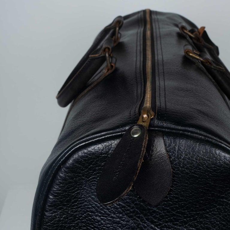 Comme des Garçons Large Black Leather Boston Bag 1