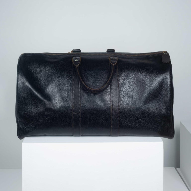 Comme des Garçons Large Black Leather Boston Bag 2
