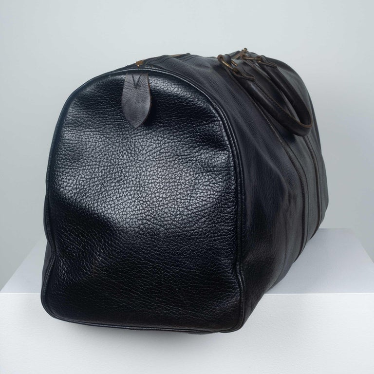 Comme des Garçons Large Black Leather Boston Bag 3